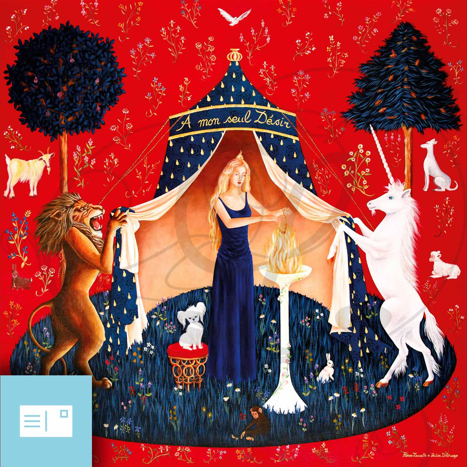 Carte postale mon seul d sir legendart - Tapisserie dame a la licorne ...
