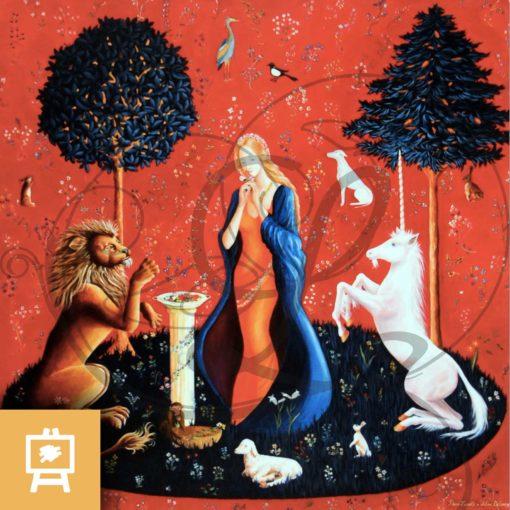reproduction-sur-toile-odorat-sens-dame-a-la-licorne-legendart
