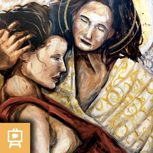 julien-delanssays-peinture-ange