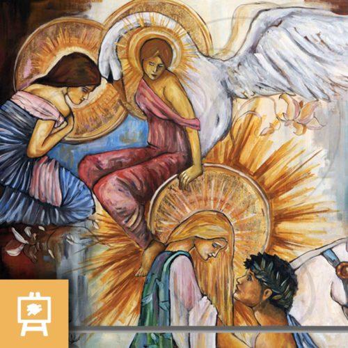 julien-delanssays-peinture-retrouvailles-or