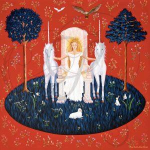 la dame à la licorne - la dame illuminée (8ème panneau)